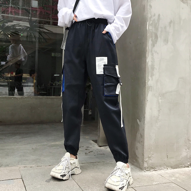 Hot Big Pockets Cargo pants women High Waist Loose Streetwear pants Baggy Tactical Trouser hip hop high quality joggers pants 43