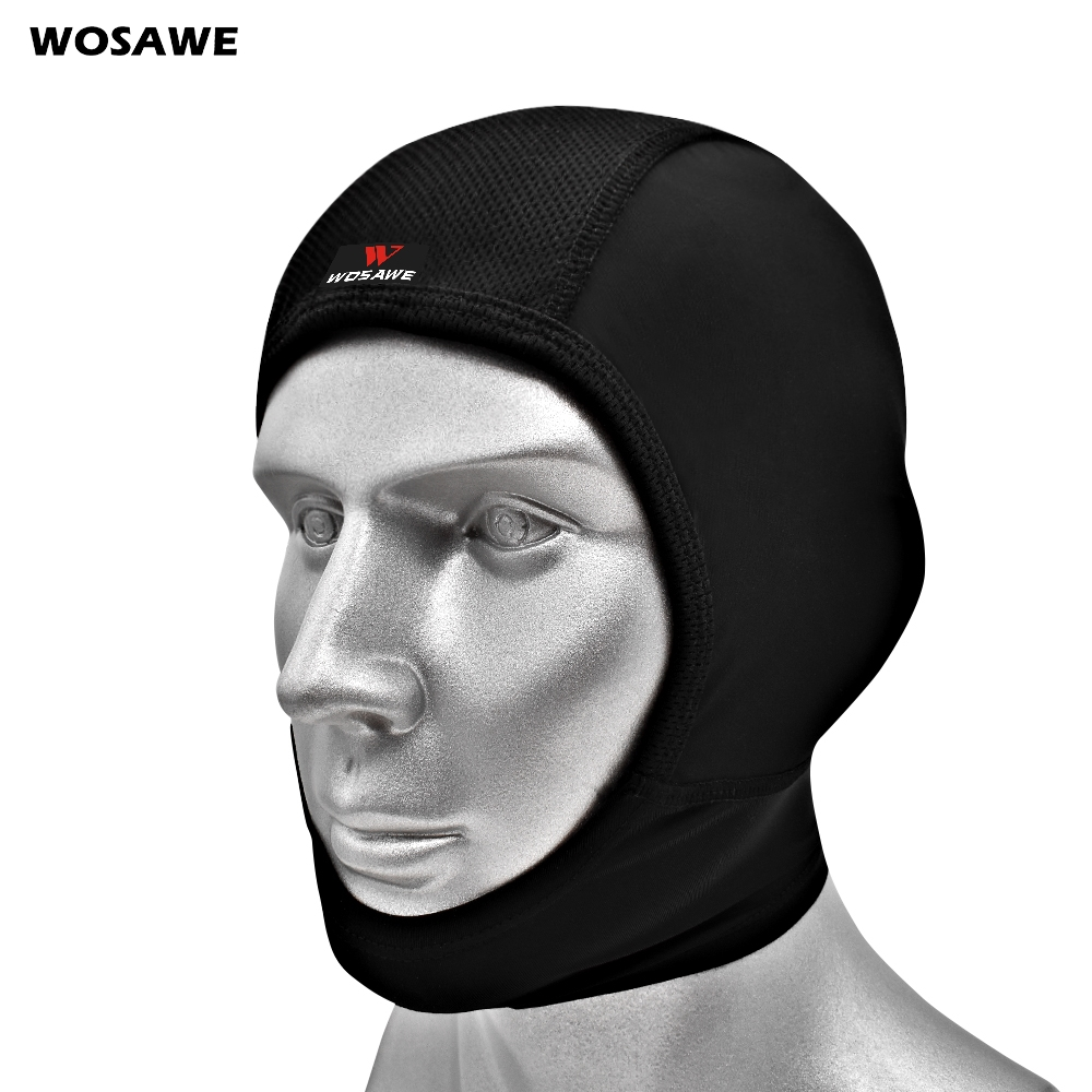 WOSAWE Men's Cycling Cap Breathable Bike Wear Running Skiing Riding Hiking Fishing Head Hat Motorcycle Helmet Inner Cap Headwear