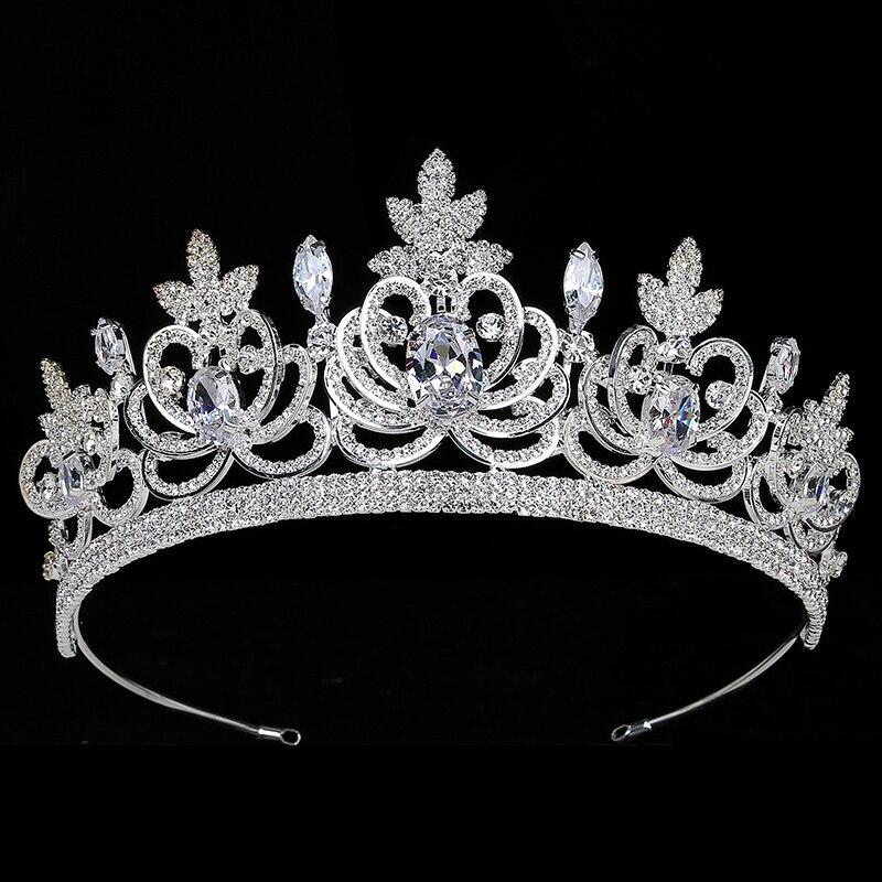 Crown HADIYANA Romance Tiara Gothic Women Wedding Bride Hair Accessories Zirconia Luxury Hair Jewelry BC3806 Coronas De Reina