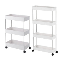 3/4 Layers Storage Rack Kitchen Narrow Cabinet Living Room Gap Shelf Home Furniture Movable