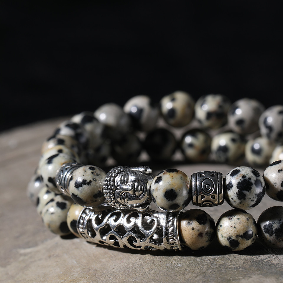 12 Style Black Lava Stone Prayer Beads Buddha Men Bead Bracelet Tiger Stones Beaded Bracelets for Women and Mens Male 2pcsSet  (49)