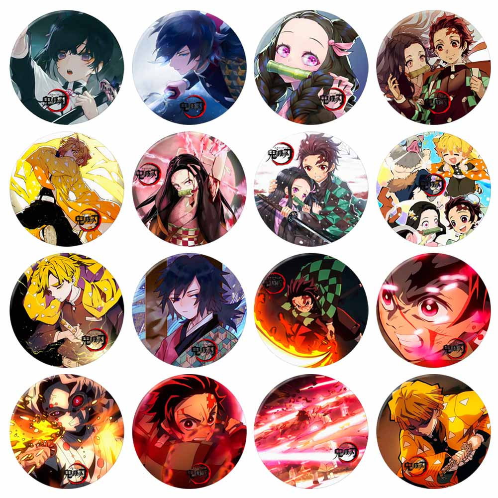 Anime Costumes Badge Demon Slayer: Kimetsu no Yaiba Kamado Tanjirou Pin Button Brooch Badge