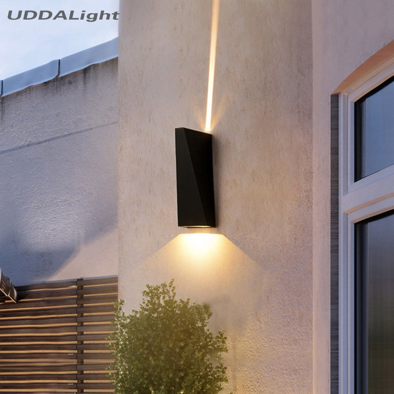 Cree led lamp outside 10W garden wall light black/white Space wheel special effect lighting 15 and 120 degree