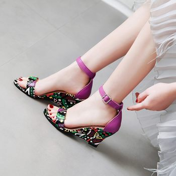 Summer Candy Color Open Toe Women's Korean Lady Casual Large Size Sandals