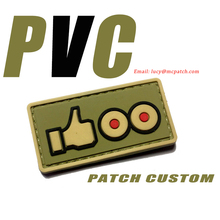 Custom Logo PVC Patches Clothing Iron on Patches Hook and Loop soldier police 2D 3D rubber patches Cheap Applique for jacket DIY