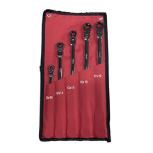 5pcs Flexi-Head Ratchet Spanner Set-Extra Aviation Wrench Long 72Tooth