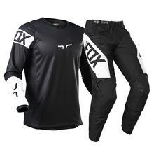 Race Pant Jersey Gear-Combo Dirt-Bike Mx Motocross Racing Off-Road Black/white Adult