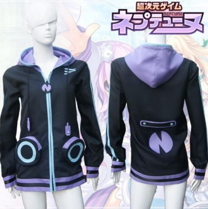 Hyperdimension Neptunia Neptune Purple Heart Otaku Cosplay Sweatshirt Hoodie