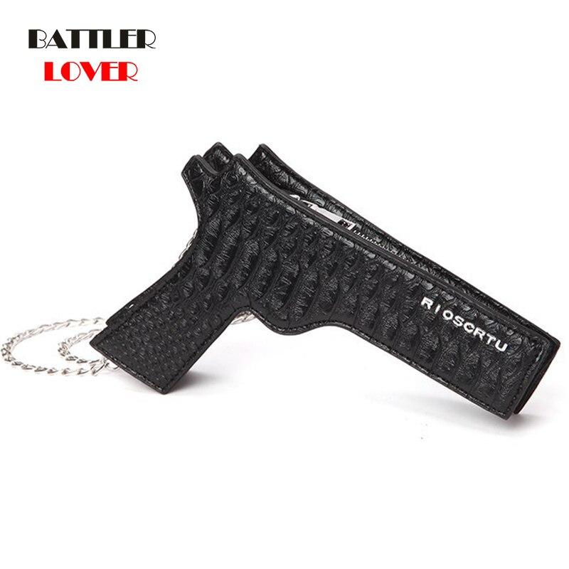 2020 New Fashion Gun Design Women Purse Gun-shaped Bag Cool Small Messenger Bag PU Leather Crossbody Bag Ladies Shoulder Bag