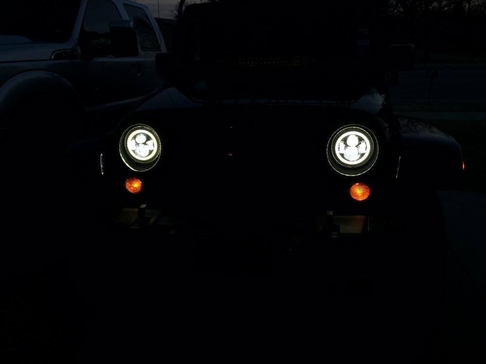 For 07-18 Jeep Wrangler Unlimited JK 4-door LED Headlight+Fog Light Combo Kit 4x