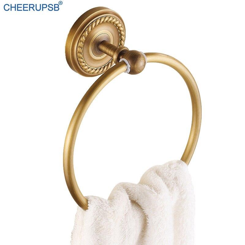 Toalla de aluminio del espacio Anillo de toalla europeo bronce cepillado toallero ba/ño toalla redonda