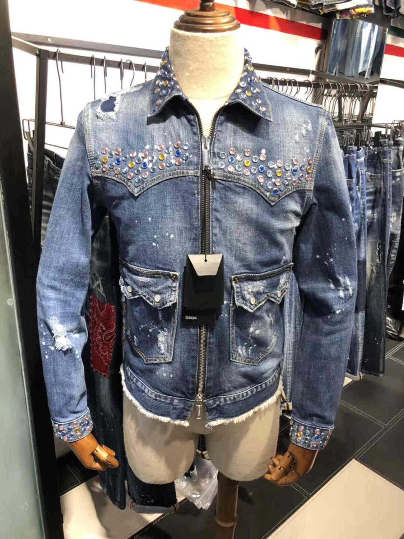 Denim Mens Shirts Long Sleeve Jeans Shirt Clothing Blouse Men Blusas Men Blouses,Dark Blue,XXL,C