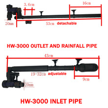 FILTER-ACCESSORIES Outlet Aquarium Rainfall-Pipe Sunsun Hw-3000-Canister External Fish-Tank