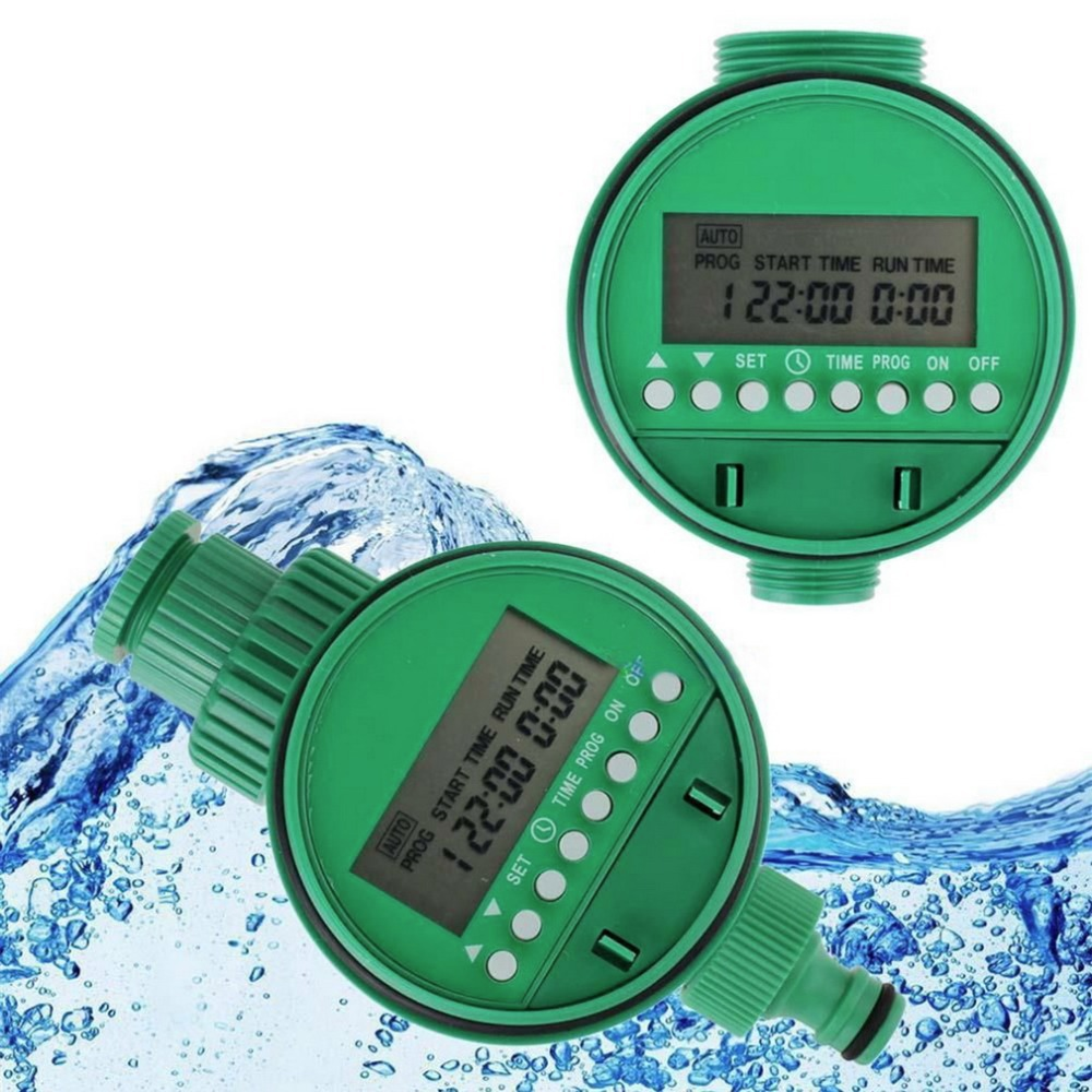 LCD Display Water Timer Automatic Intelligent Electronic Garden Rubber Solenoid Valve title=