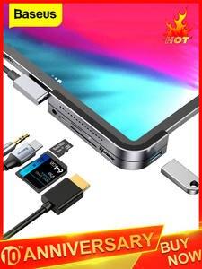 Baseus USB C HUB для iPad Pro 12,9 11 2018 Type C HUB to HDMI USB 3,0 PD Port 3,5 мм Jack USB-C USB HUB адаптер для MacBook Pro