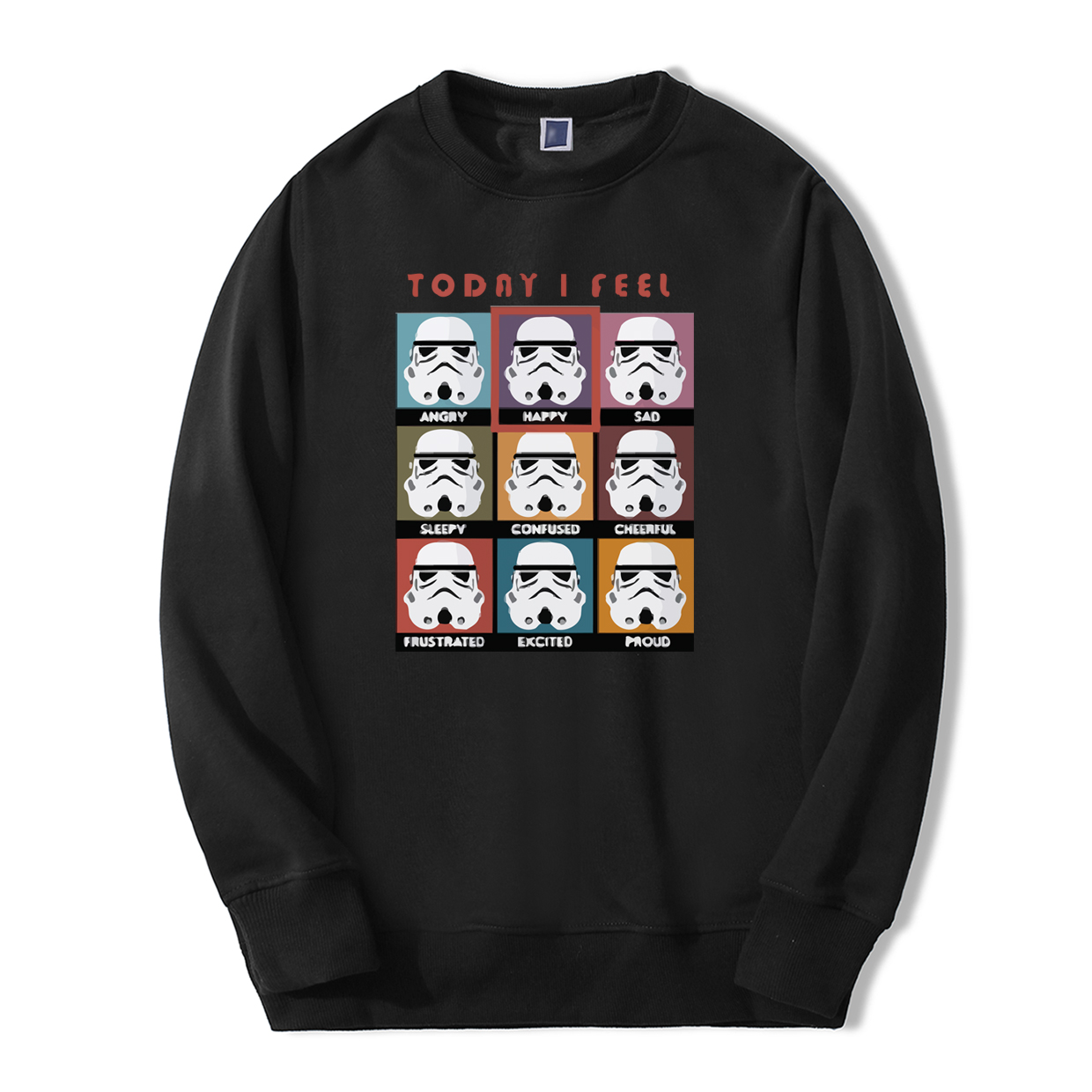 Fashion Today I Fell Happy Star Wars Hoodies Men 2019 Spring Winter Men Sweatshirt Fleece Tracksuit Warm fitness casual pullover
