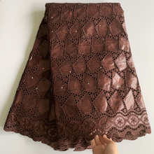 Riche-Fabric Bazin Brode Dress Brown Nigerian High-Quality Lace for LG811