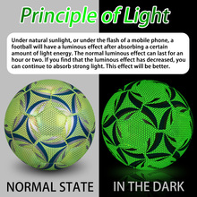 SIRDAR Fluorescent Football Adult No. 5 Child No. 4 New Football Standard Match Training Glowing Soccer Ball