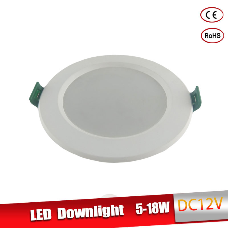 DC 12V Led Downlight 5W 9W 12W 15W 18W Led Recessed Grid Downlight Cold White 6500K Round LED Panel Light