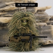 Assembled-Toys Building-Blocks Soldier Sniper Children for Clothing All-Terrain Camouflage