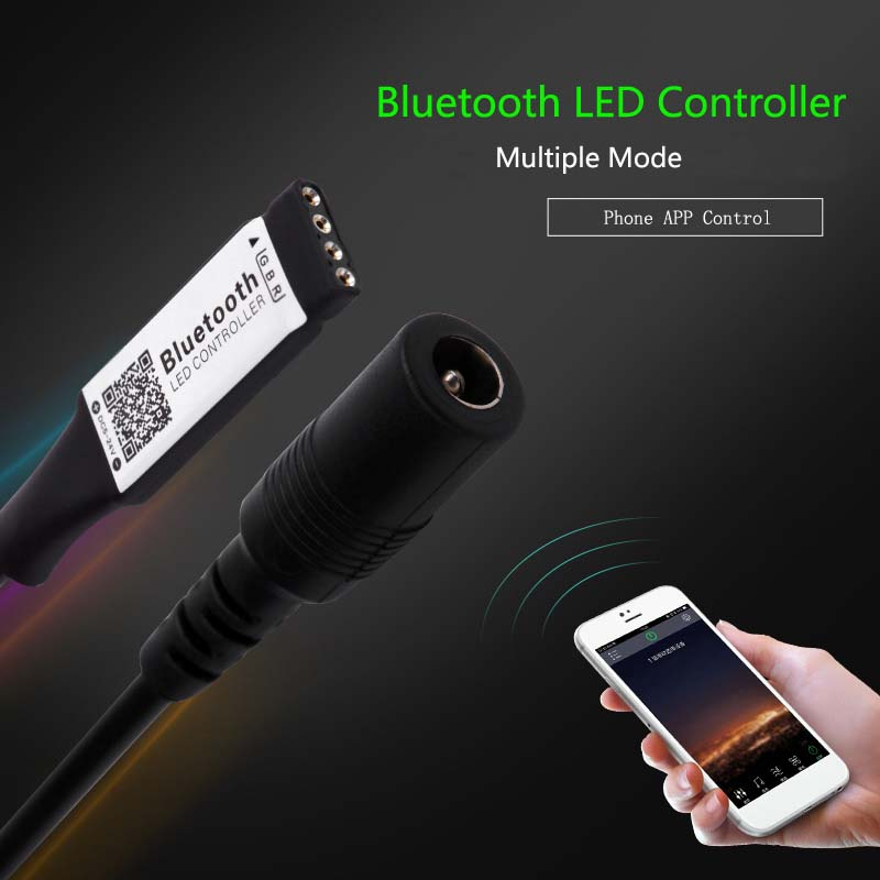 Bluetooth LED Controller DC12V Remote Controller by phone For 3528 5050 RGB LED Strip multiple mode