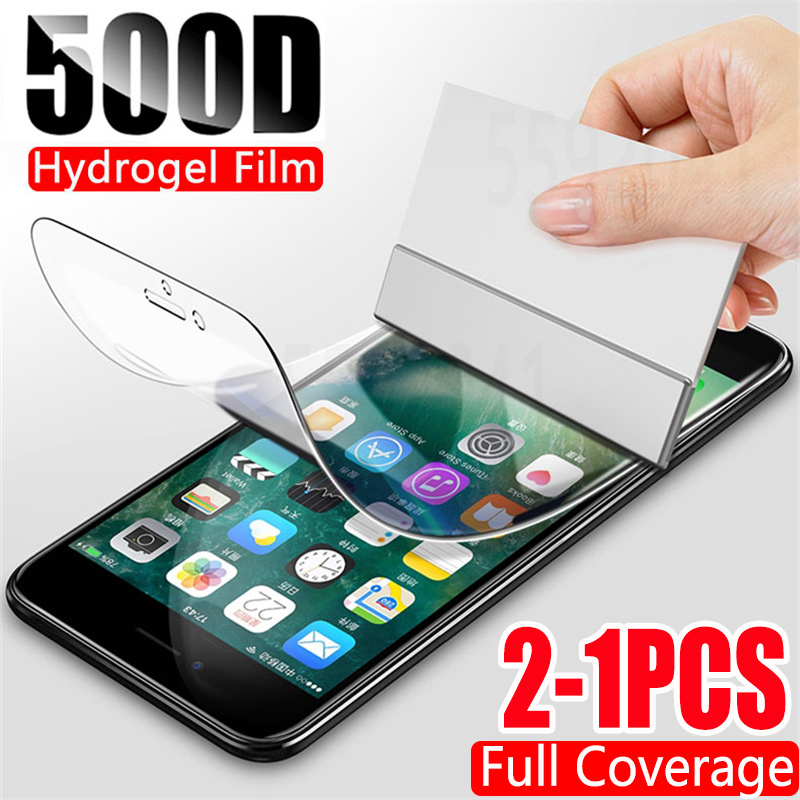 2Pcs 500D Hydrogel Film Screen Protector For iPhone 7 8 Plus 6 6s Plus Soft Soft title=