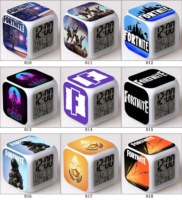 Relogio Despertador Digital Fortnite 7 Leds Cores