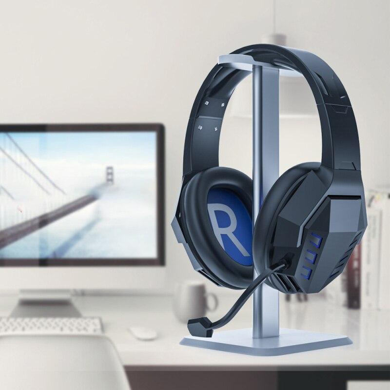 Headset-Halter-Aluminium Unter Schreibtisch Doppel-Headsets Aufh/änger Halter St/änder mit stark klebender Schraube f/ür alle Kopfh/örer Silber