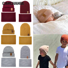Hat Beanies Snood Girls Winter Boys Child's Women Fashion Autumn And for Scarf Suit Solid-Color
