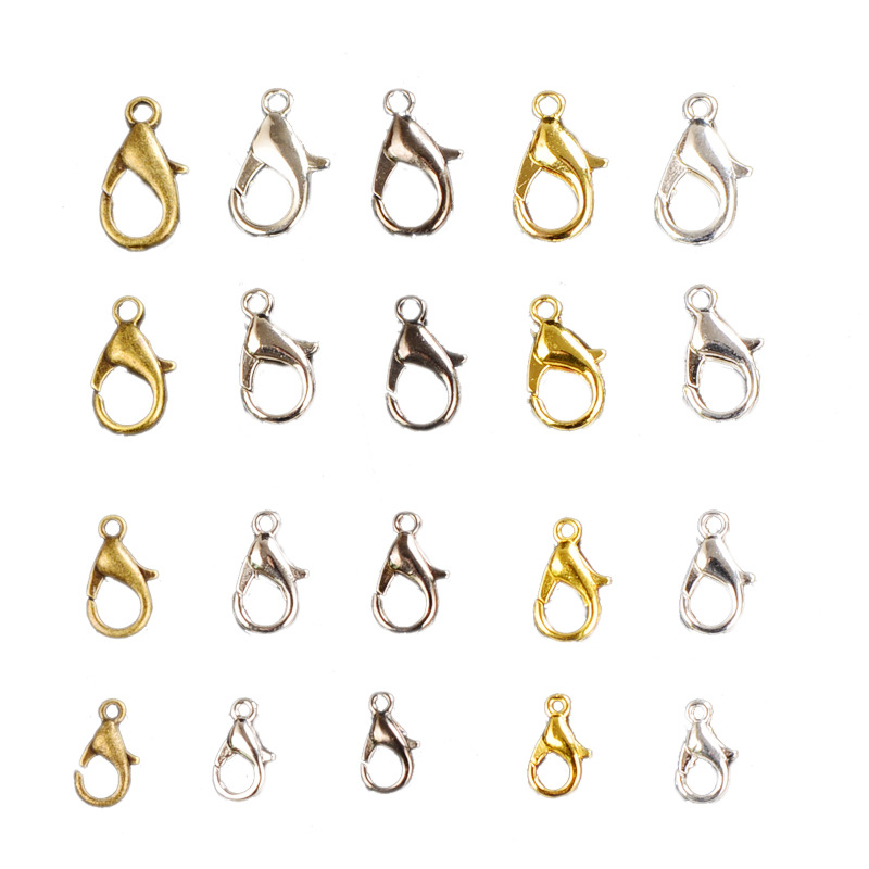 Zinc Alloy 60pcs /lot Lobster Clasp for Diy Necklace Bracelet Jewelry Making  title=