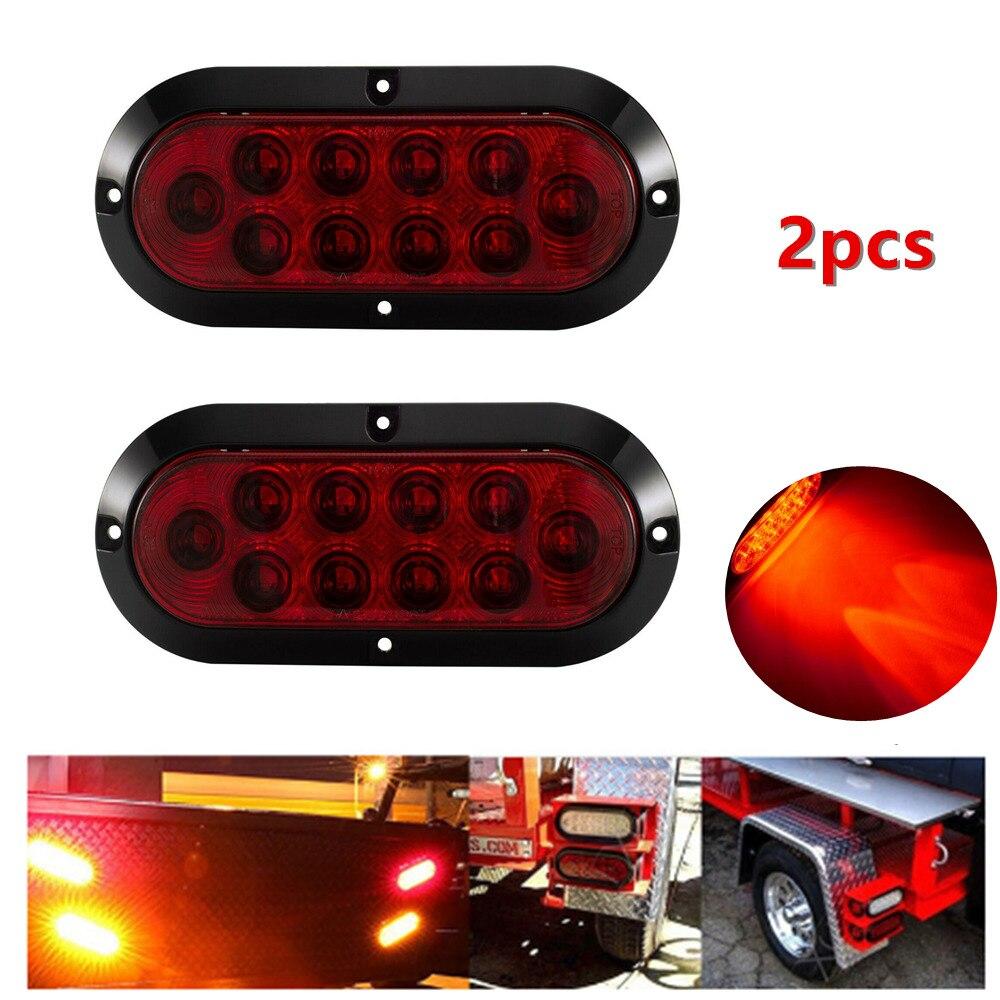"6/"" Oval Amber LED Parking or Turn Signal Light Flush Mount Trailer Truck 10"