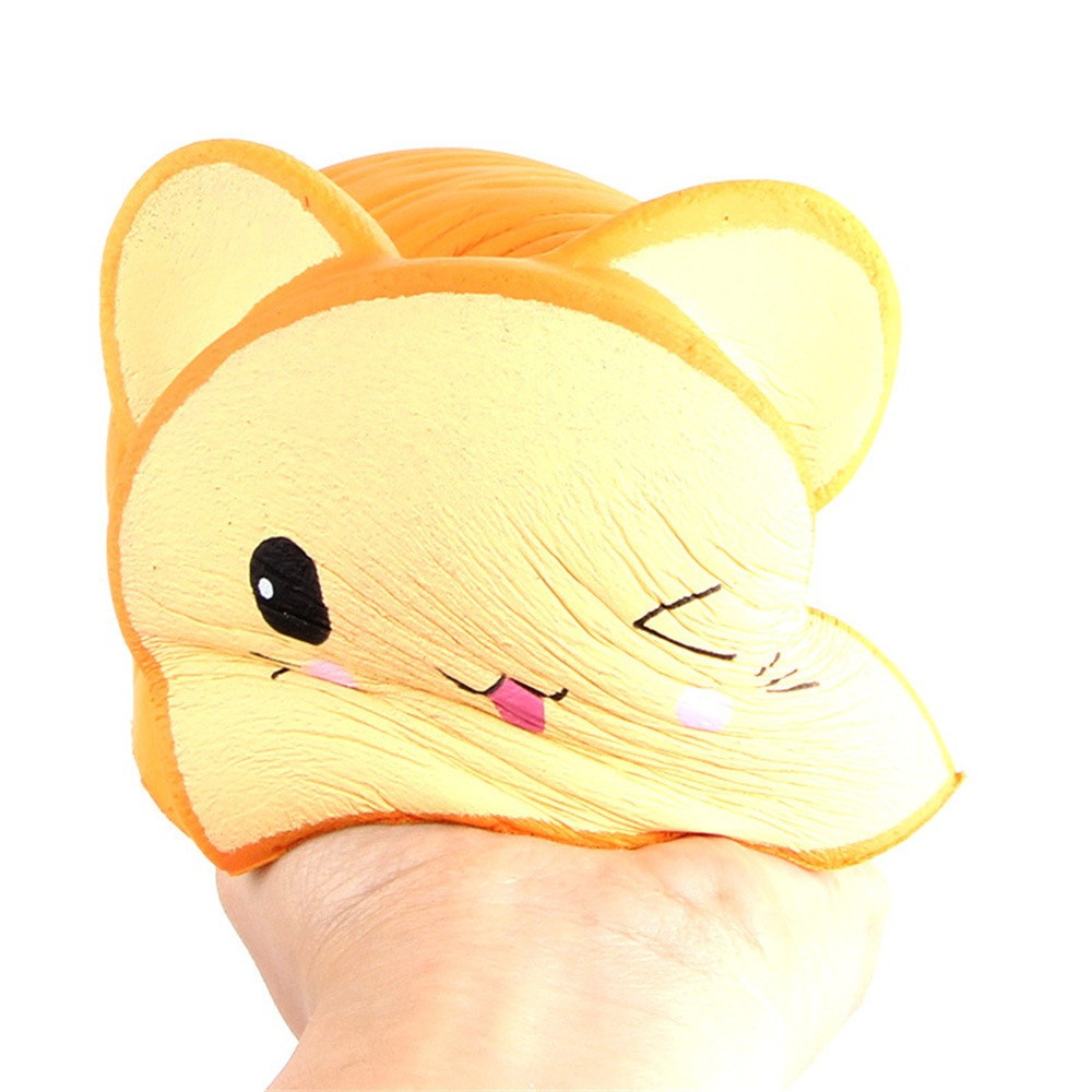 cartoon Cat Head Bread Slow Rising Fun Stress Relief Toy Depression Depressable Vent Toys Squeeze Food antistress toy #C