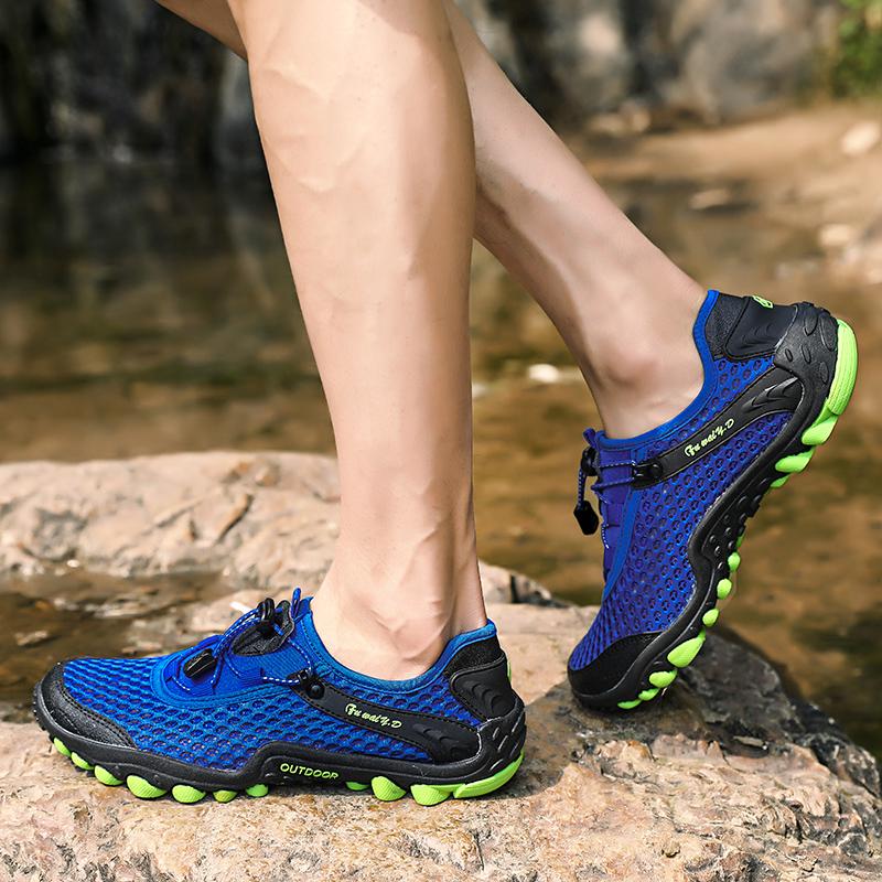 Aqua Shoes Ultra-light Quick-drying Beach Water River Walking 2019 Summer Men Mesh Breathable Flotillas Outdoor Hiking (57)