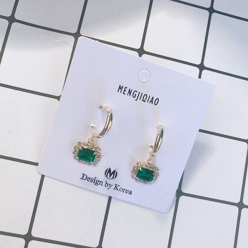 MENGJIQIAO 19 New Korean TV Star Elegant Shiny Rhinestone Drop Earrings For Women Metal Circle Crystal Oorbellen Party Jewery 18