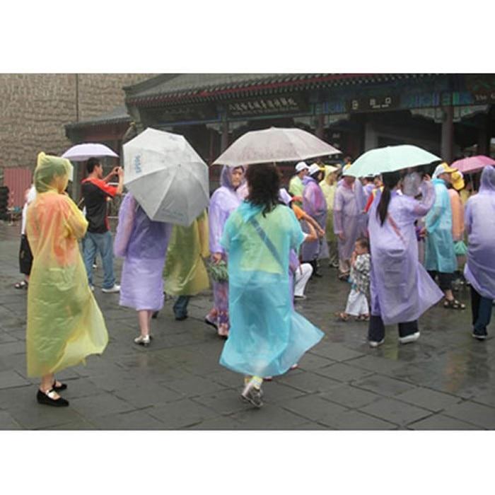 Unisex Disposable Raincoat Adult Emergency Waterproof Hood Poncho Travel Camping Must Rain Coat 2020