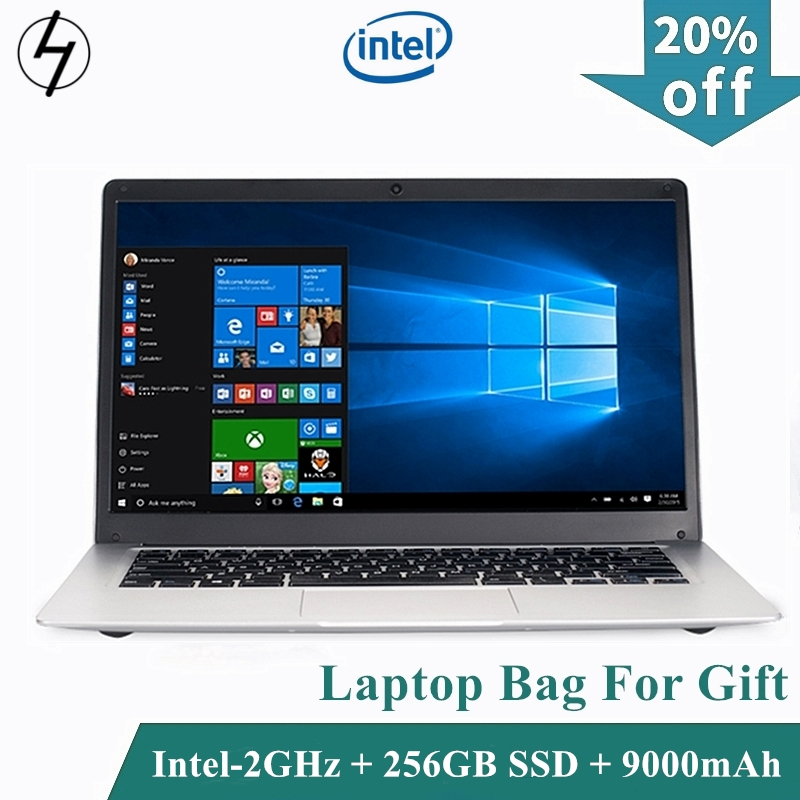 LHMZNIY Laptop 14.1 inch Windows10 Notebook 4GB 256GB SSD FHD screen intel E8000 WIFI Camera slim Student laptop for Office game title=