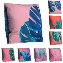 Double-sided Print Tropical Plant Leaves Cactus Pillow Case bedding sets hot sales(China)