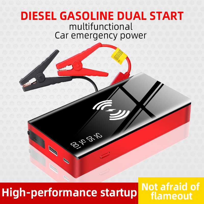 Wireless Charger Jumpstarter 20000mAh 12V 600A car jump starter portable power bank boster for car title=