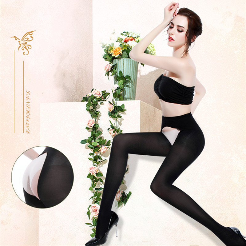 DOIAESKV Women Tights Open Crotch Plus Size 120D Autumn Winter Warm Pantyhose High Waist Female Stretchy Slim Skinny Tights