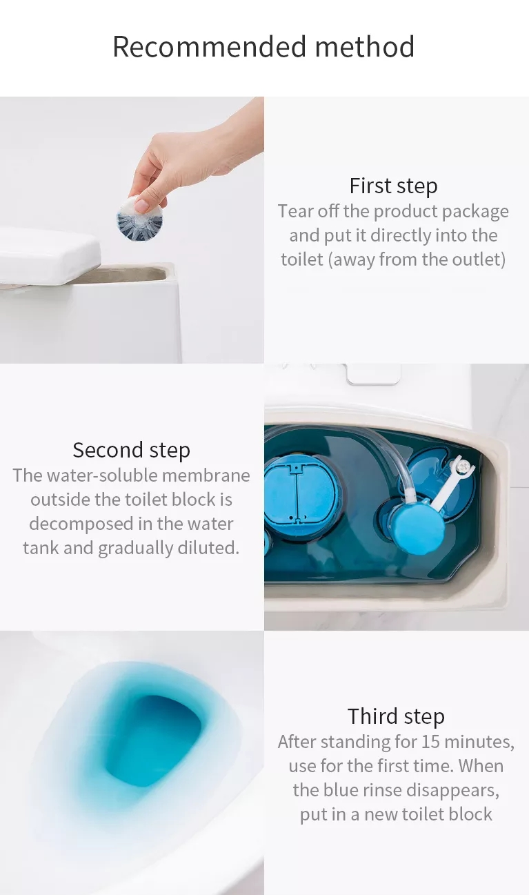 Xiaomi Clean-n-Fresh Automatic Flush Blue Bubble Toilet Cleaner Deodorization Cleaning Household for Bathroom Restroom Cleaner (9)