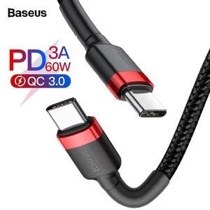 Baseus usb type-C кабель для USB C кабель для samsung S10 Xiaomi Мобильный телефон USBC PD Быстрая зарядка зарядное устройство Шнур USB-C type-C кабель
