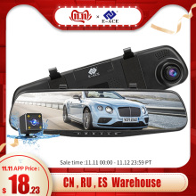 E-ACE Video-Recorder Car-Dvr-Camera Rearview-Mirror Dash-Cam Auto-Registrar 1080P FHD