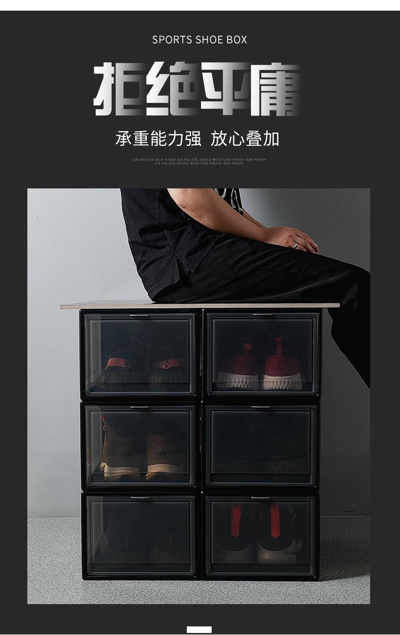 Large transparent plastic shoe box, sneaker shoes, dust proof and ...