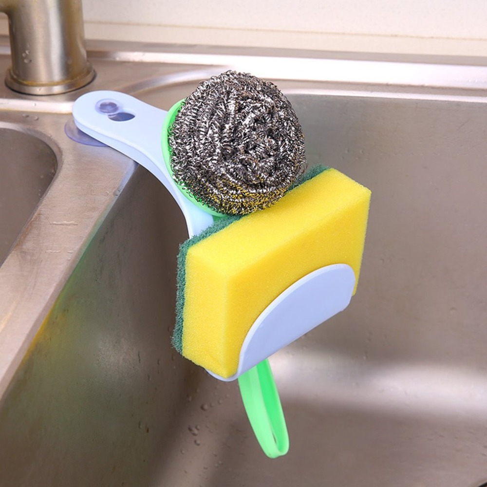 Hanging-Bag Kitchen-Supplies Plastic for Suction-Cup Sponge Water-Rack And Creative title=