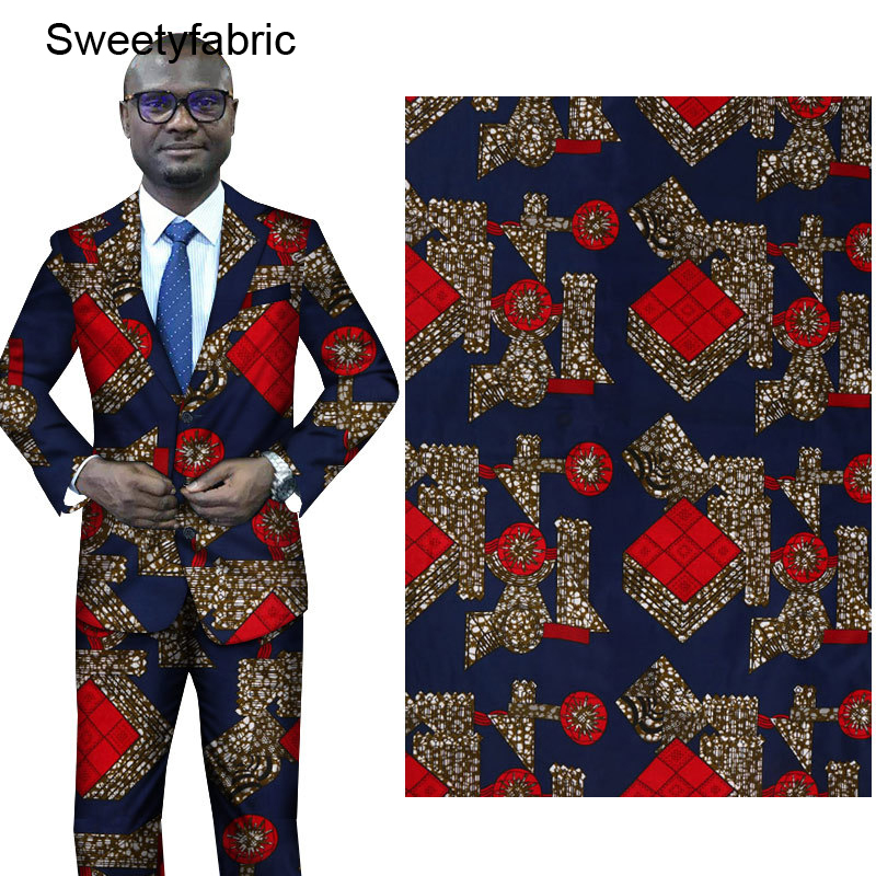 Holland African Wax Fabric 100% Polyester High Quality Lattice Prints Nederlands Pagne title=
