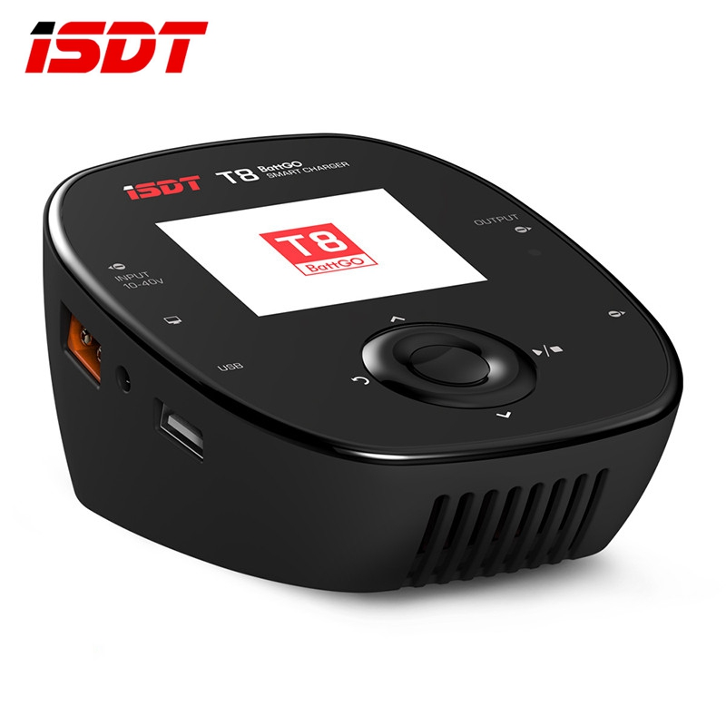 Original ISDT T8 BattGo 1000W 30A Smart Battery Balance Balancing Charger For 1-8S Lipo Battery Charging for RC Toy VS D2 SC-620