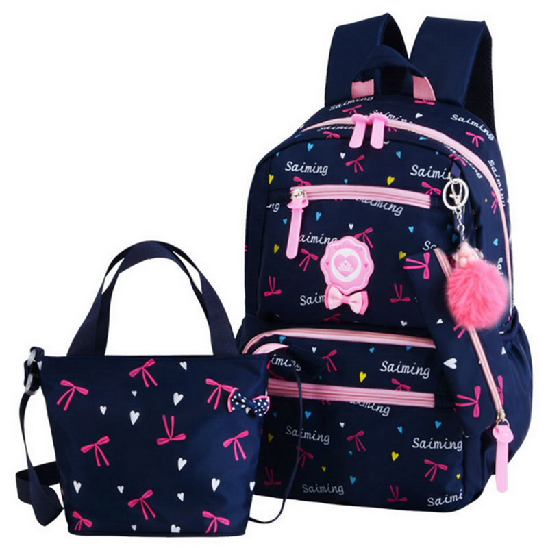 Backpacks Schoolbag Canvas Travel Girls Kids Cute New Fashion Zipper Flowers Printing title=