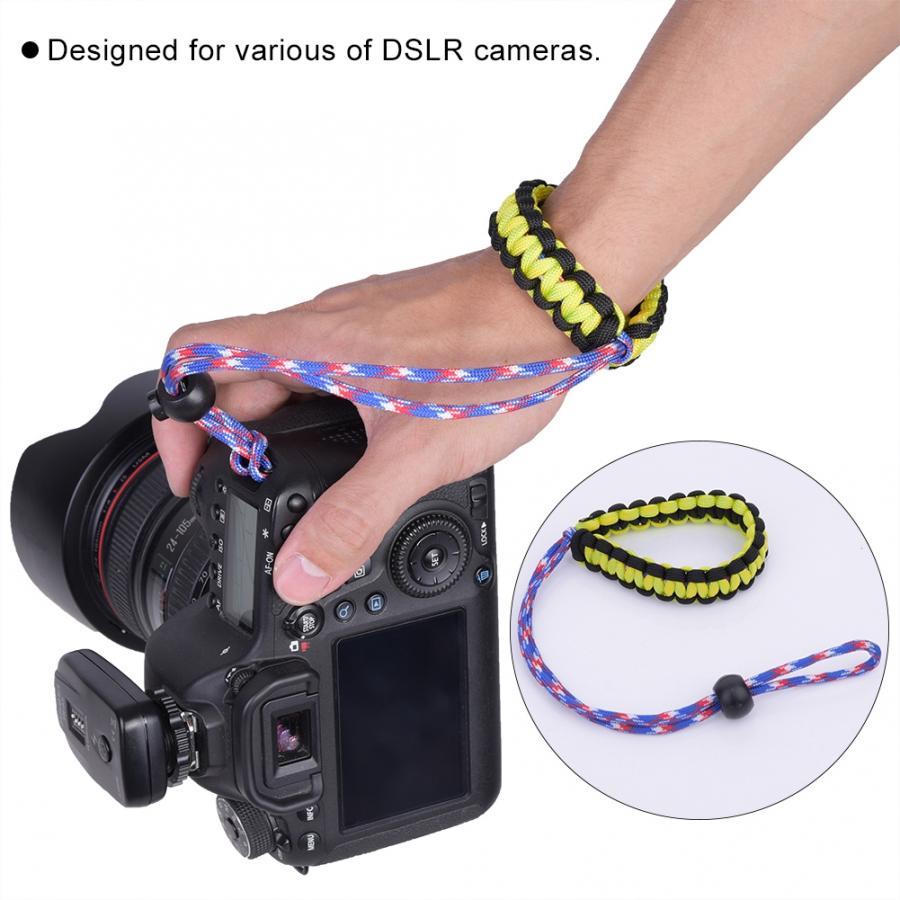 Mountain Camo Outdoor Emergency Bracelet Hand Wrist Lanyard V BESTLIFE Nylon Hand Wrist Strap for SLR Camera Outdoor Survival Bearing 250 Pounds