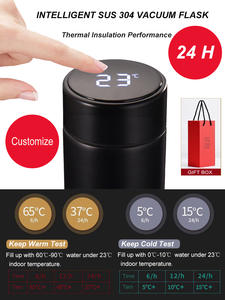 Mug Coffee-Cup Temperature-Display Vacuum-Flask Intelligent Insulation Customize 304-Stainless-Steel