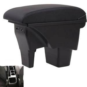 Couche double - noirs Pour Jimny 2019 2020 Accoudoirs Bo/îte Double couche Consoles main avec porte gobelets et cendrier